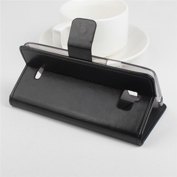 PU Leather Solid Color Flip-open Holder Case For InFocus M350