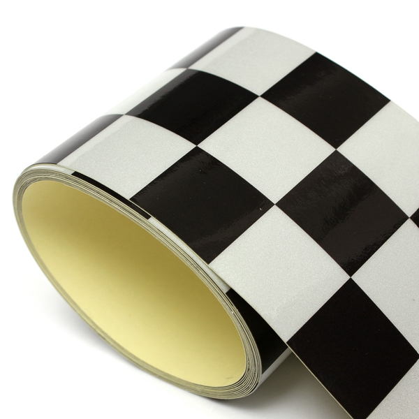 3 Inch Black White Checkered Flag Vinyl Decal Tape Car motorcycle Bike Tank Sticker
