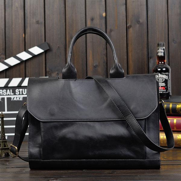 Men Shoulder Handbag Business Computer Briefcase
