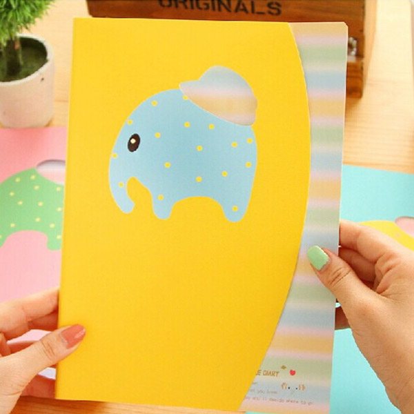 32K Candy Color Smile Cute Animal Notebook Notepad Diary