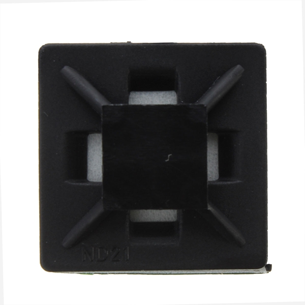 100pcs Self Adhesive Cable Zip TiE-mount Base Holder Clip Bracket Square