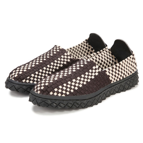 Mens Stretch Knitting Casual Shoes Elastic Band Slip-On Flat Sport Sewing Shoes