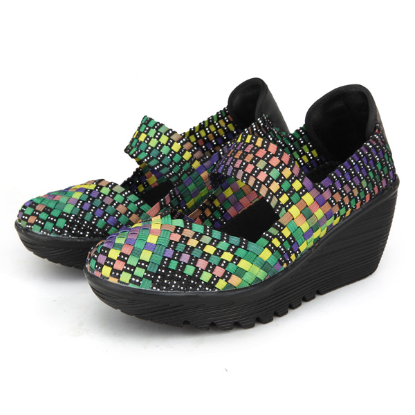 Elastic Belt Woven Swing Shoes Female Sport Sandals Shoes