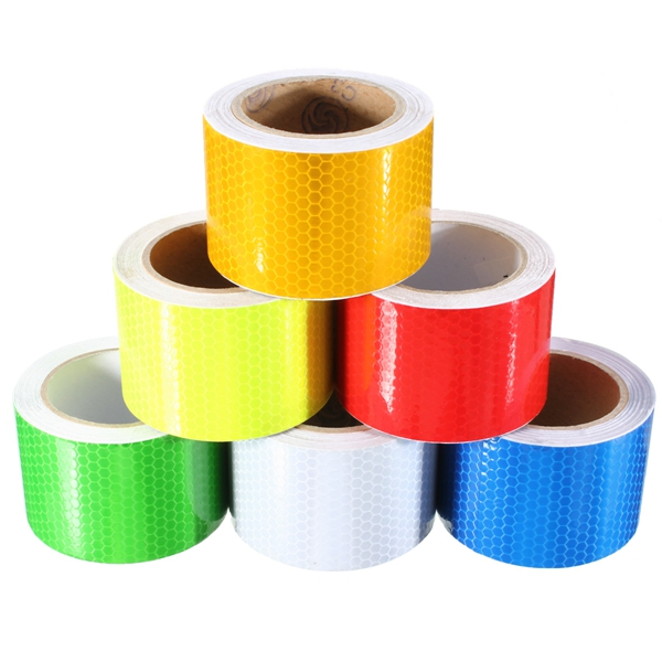5mX50mm Blue Red Green Yellow Reflective Safety Warning Conspicuity Tape Film Sticker