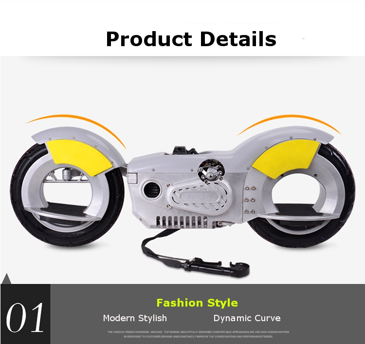 Forthgoer CE EPA G-Wheel Motorcycle Vacuum Tire Two Wheel Electric Scooter