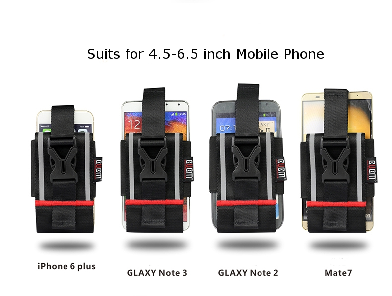 BUBM Sport Phone Bag Neck Strap Hanging Armband For 4.5-6.5 Inch Phone