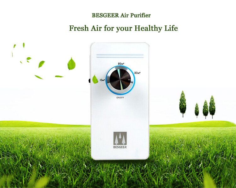 BESGEER Intelligent Sterilization House Home Office Air Purifier Ozonator Fresher Purifying Machine