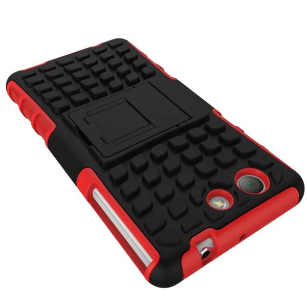 Spider Dual Color TPU Stand Case Cover For Sony Z4 Mini