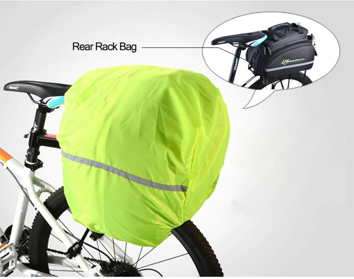 ROCKBROS Bicycle Bag Waterproof Cover Riding Bike Backpack Rain Cover Protections