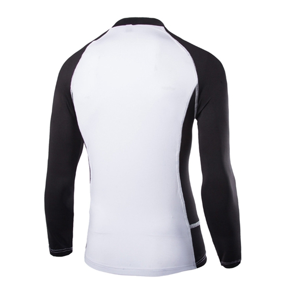 Men Stretch Fabric Quick-dry Long-sleeved Raglan Sleeve Cycling Clothes T-shirt GYM Tights