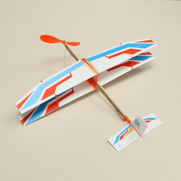 Glider Aircraft Plane Rubber Powered Assembly Model DIY Kids Education Toy