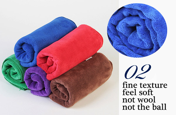 60x160cm Microfiber Plush Bath Towel Thickened Beach Sport Quick Drying Towel