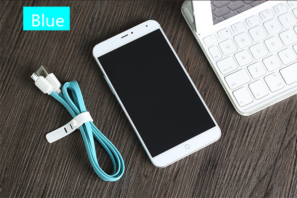 ROCK 2.1A 1M Flat Micro USB Charging Data Cable For Cell Phone