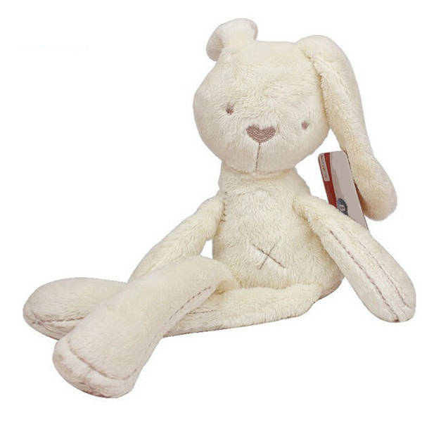Baby kids lovely White Bunny Rabbit Sleeping Comfort Smooth Obedient Warm Calm Doll Stuff Plush Toy