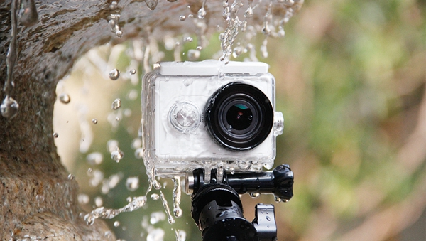 Original Waterproof Diving Back Up Case 40M for Xiaomi Yi Sports Camera New Version White