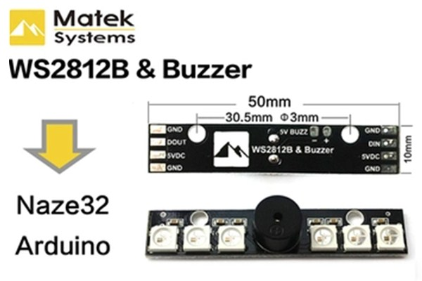 Matek WS2812B LED Board With 5V Buzzer For Naze 32 Skyline 32 Flight Controller for RC Drone FPV Racing