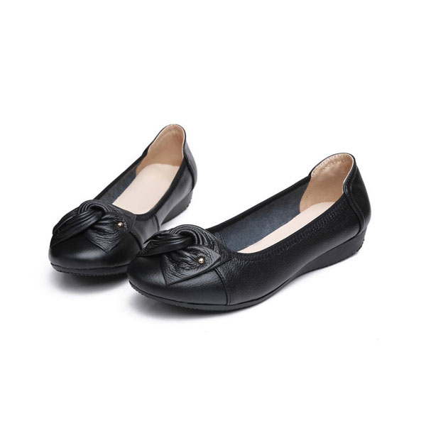Women Bow Design Soft Slip-On Flat Casual Shoes