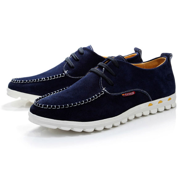Big Size New Autumn Spring Men Suede Shoes European Style Casual Flats Large Men's Shoes