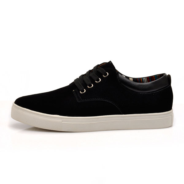 Big Size Men's lace up Suede Casual Flat Low Top Sneakers Shoes