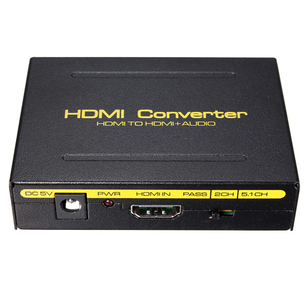 5.1CH 1080P HD to HD SPDIF RCA L/R Audio Splitter Extractor Converter