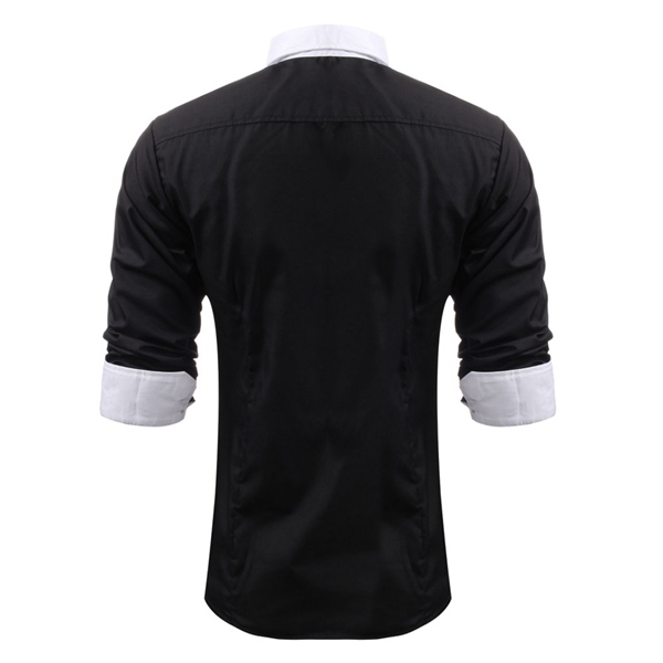 Stylish Mens Casual Slim Fit Dress Long Sleeve Shirts