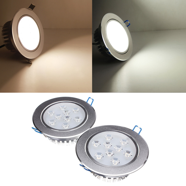 9W Dimmable Bright LED Recessed Ceiling Down Light 85-265V