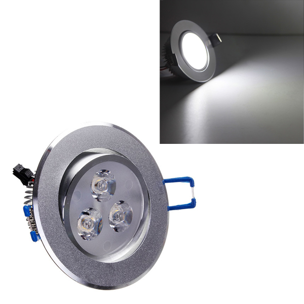 3W Bright LED Recessed Ceiling Down Light 85-265V Cool White
