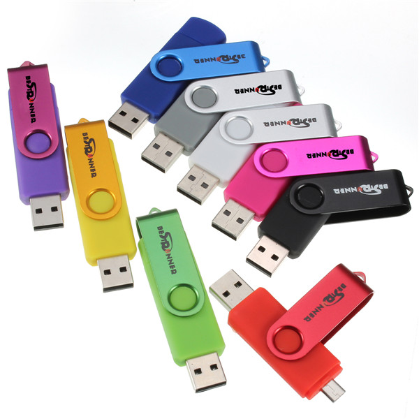 Bestrunner 2G USB to Micro USB Flash Drives U Disk For PC and OTG Smartphone