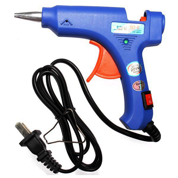 SD-E 20W Blue Mini Heating Hot Melt Glue Crafts Repair Tools