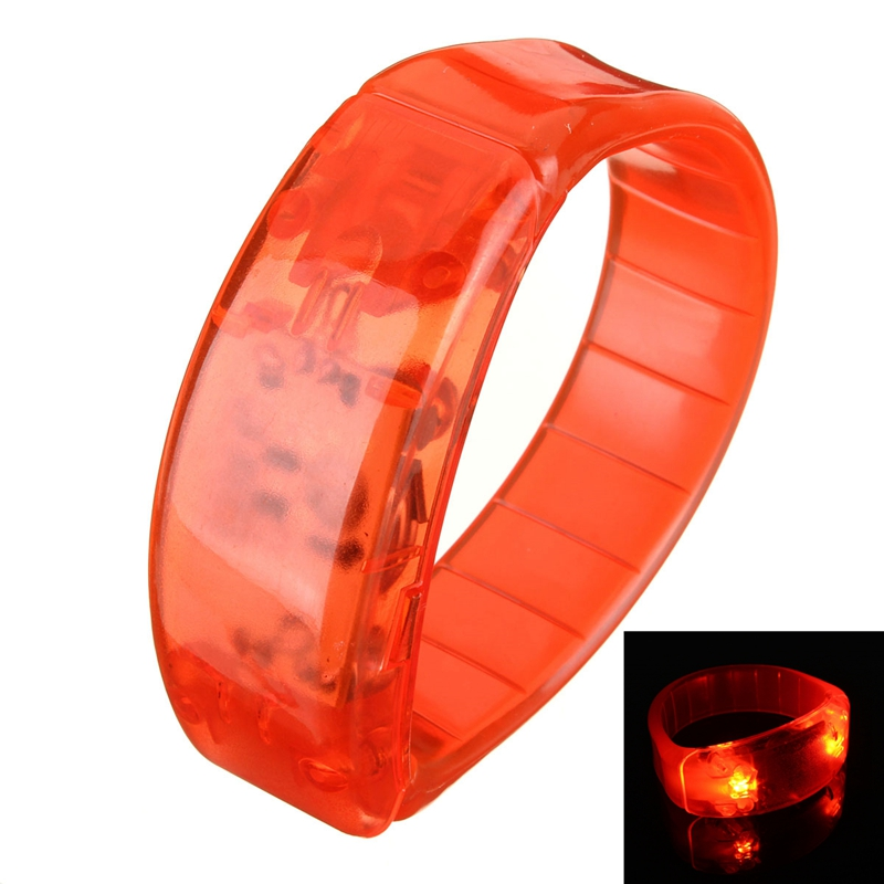 LED Sports Cycling Survival Light Voice Activated Bracelet Wrist Band Blinker