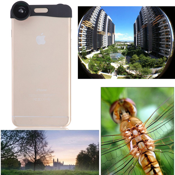 3 in 1 Fisheye Wide Angle Micro Zoom Camera Lens Kits For iPhone 6 Plus