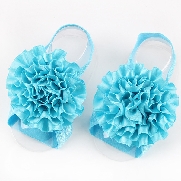 Newborn Toddler Girl Flower Barefoot Sandals Baby Floral Toe Shoes Princess Sock