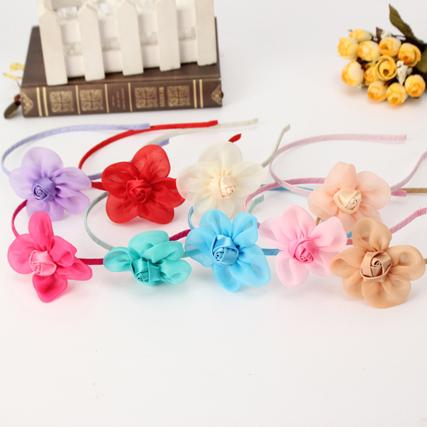 Kids Girls Sunflower Buds Rose Hair Clasp Hoop Head band Headwear Accessory