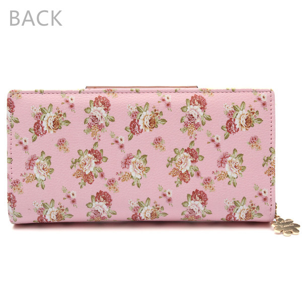Rural Women Floral Long Wallet Girls Sweet Hasp Purse Card Holder Phone Bags