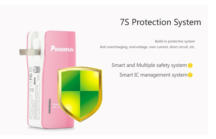 Pisen TS-D156 7500mAh Colorful Portable Power Bank For Mobile Phone