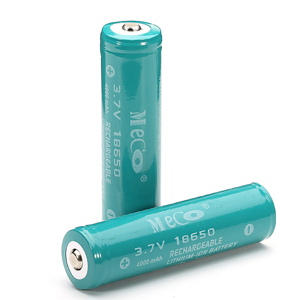 4PCS MECO 3.7v 4000mAh Protected Rechargeable 18650 Li-ion Battery