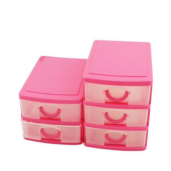 Plastic Drawers Jewelry Storage Bins Box Organizer Holder Desktop Cabinet Case