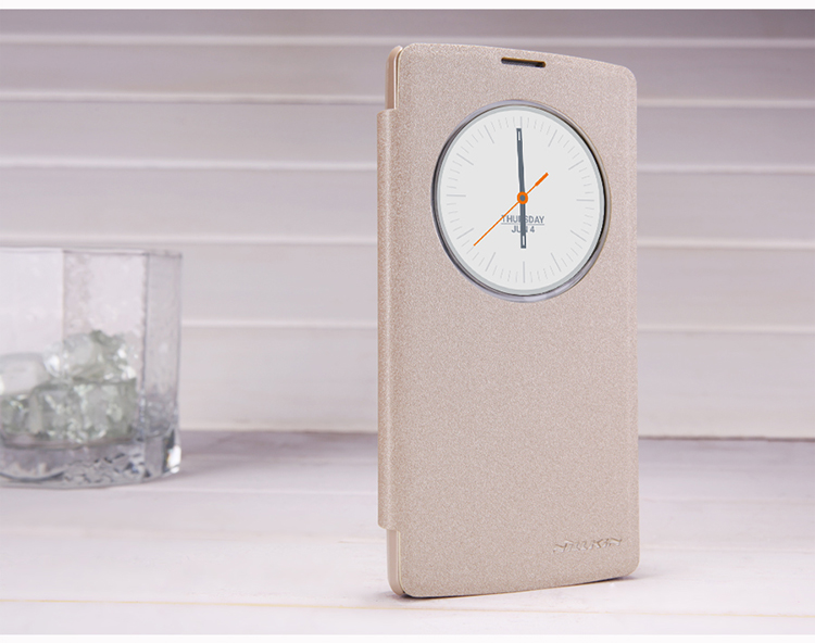 Nillkin Sparkle Flip Open Window View Leather Case For LG Magna H502f