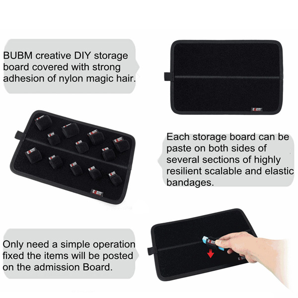 Large Size BUBM Double Side Inner Package DIY Magic Storage Insert Bag Organizer Cosmetic