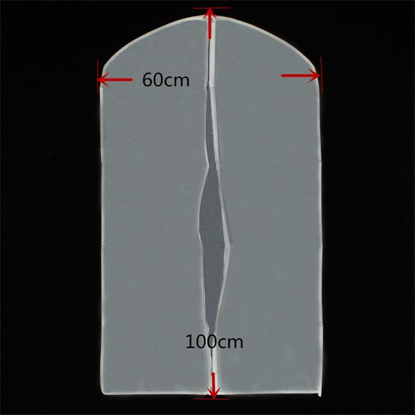 60*100cm Garment Suit Dress Jacket Clothes Cleaner Coat Dust-proof Translucent Cover