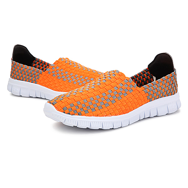 New Stretch Knitting Women Casual Flat Sport Shoes