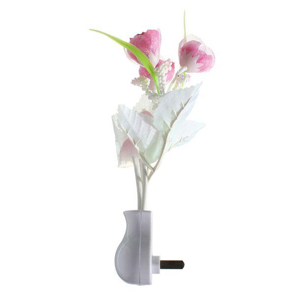 Mini Tulip Mushroom Soft Romantic Sensor Home Decor Night Light Bed Room Lamp