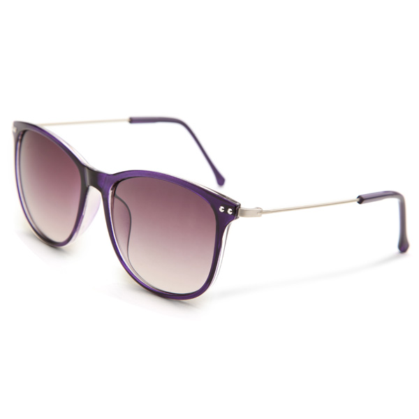 UV400 Women Sunglasses Slim Leg Metal Full Frame Square Rivet Glasses