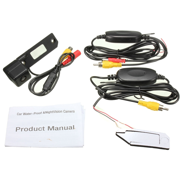 Car CCD Wireless Rear View Video Camera Reverse Cam For VW Passat Golf T5 Caddy Touran