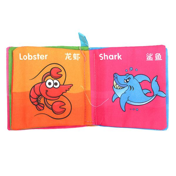 Intelligence Development Cloth Cognize Book Early Educational Learning Toy Kid Baby