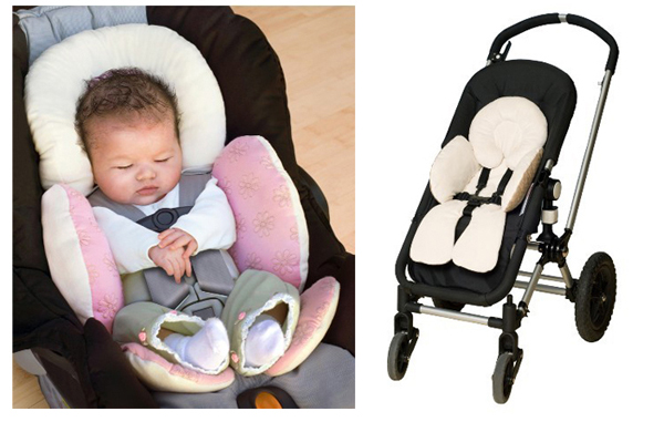 Baby Kid Reversible Body Support Compliance Car Seat Stroller Cushions Pad