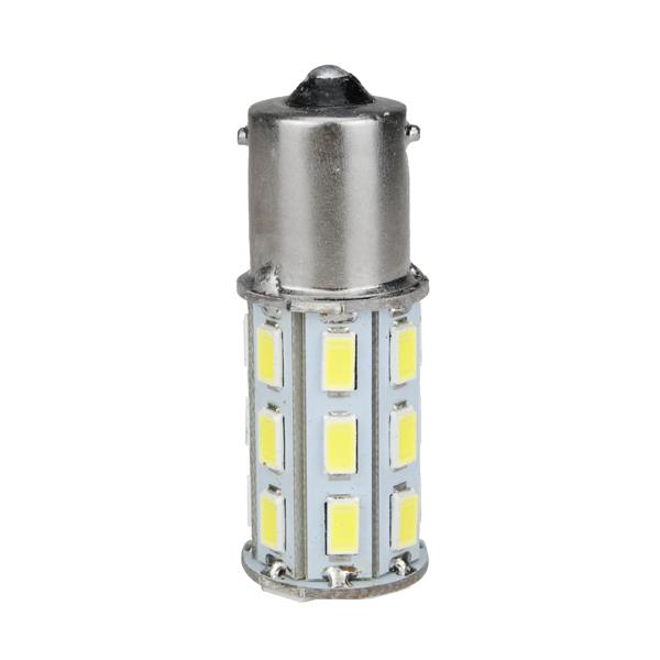 1156 BA15S 5630 27SMD Car White LED Tail Reverse Turn Light Bulb