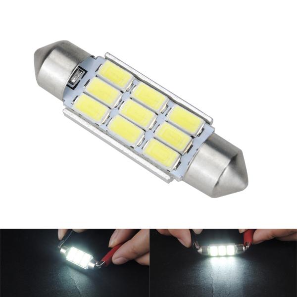 39MM Festoon 5630 9SMD Canbus Error Free Car White LED Interior Dome Light Buld