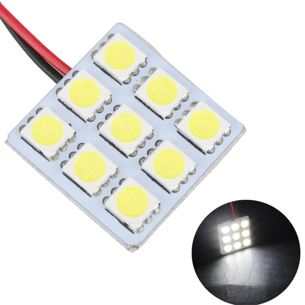 5050 9SMD Car White LED Interior Dome Door Reading Panel Light