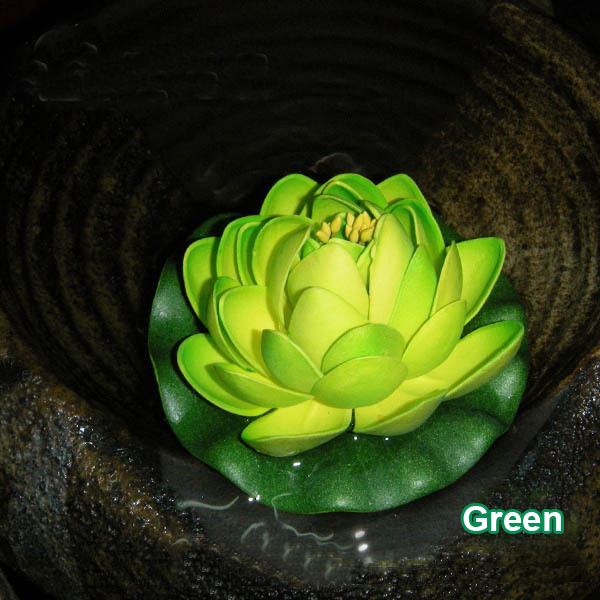 Fish Pond Pool Fish Tank Aquarium Artificial Water Lily Lotus Flowers Fish Pond Pool Home Decoration